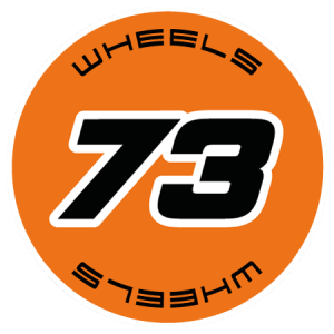 73 wheels logo